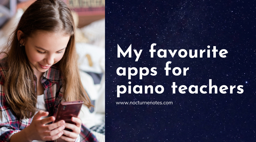 Apps for Piano lessons: 3 of my students favourites
