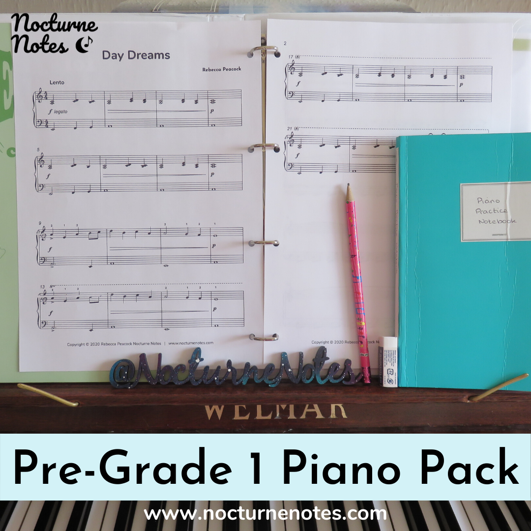 Sheet Music from the Pre-Grade 1 Piano Pack