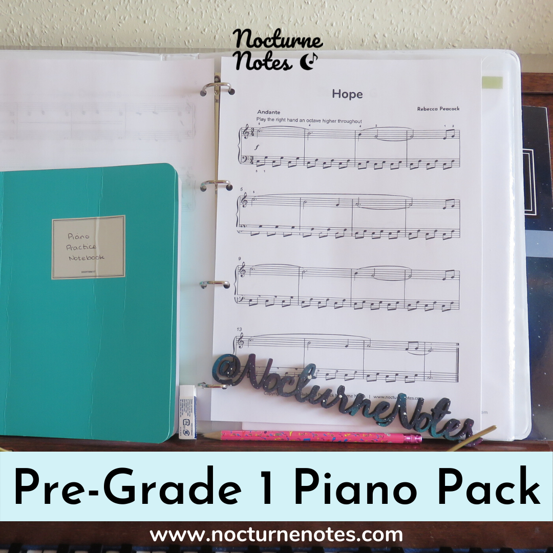 Sheet Music for Hope from the Pre-Grade 1 Piano Pack