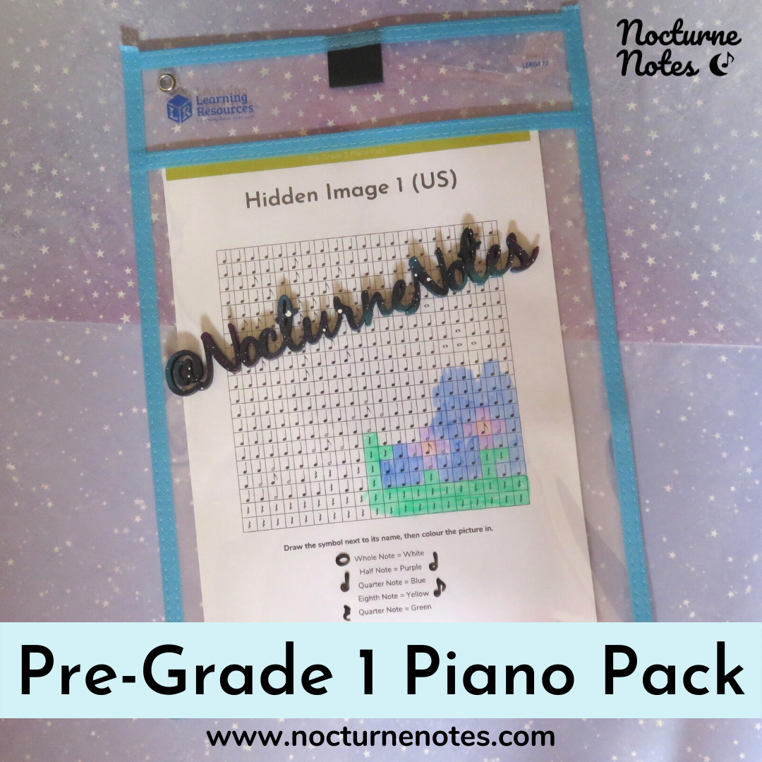 Hidden Image Colouring Sheet from the Pre-Grade 1 Piano Pack