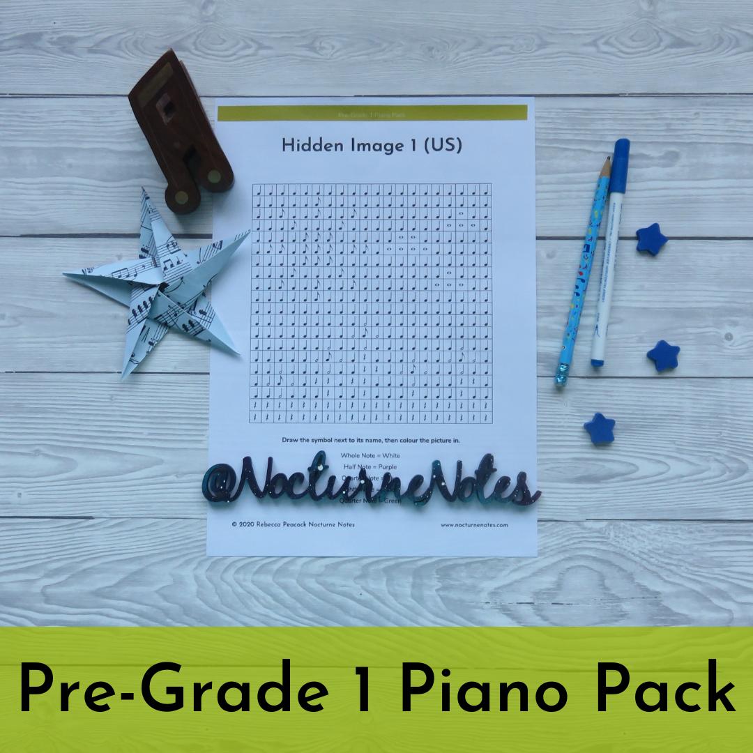 Pre-Grade 1 Piano Pack - Colouring Sheet