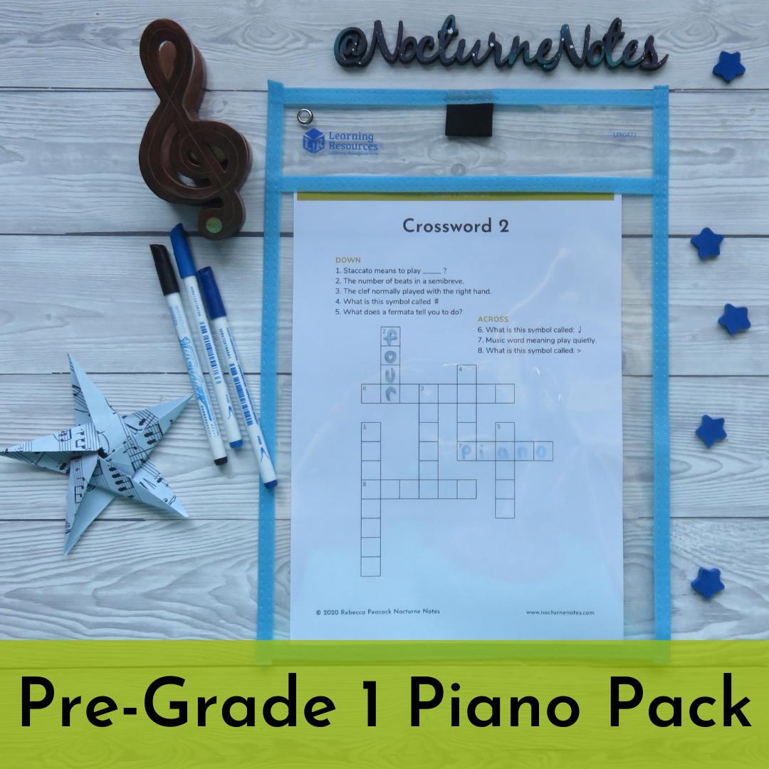 Pre-Grade 1 Piano Pack - Crossword
