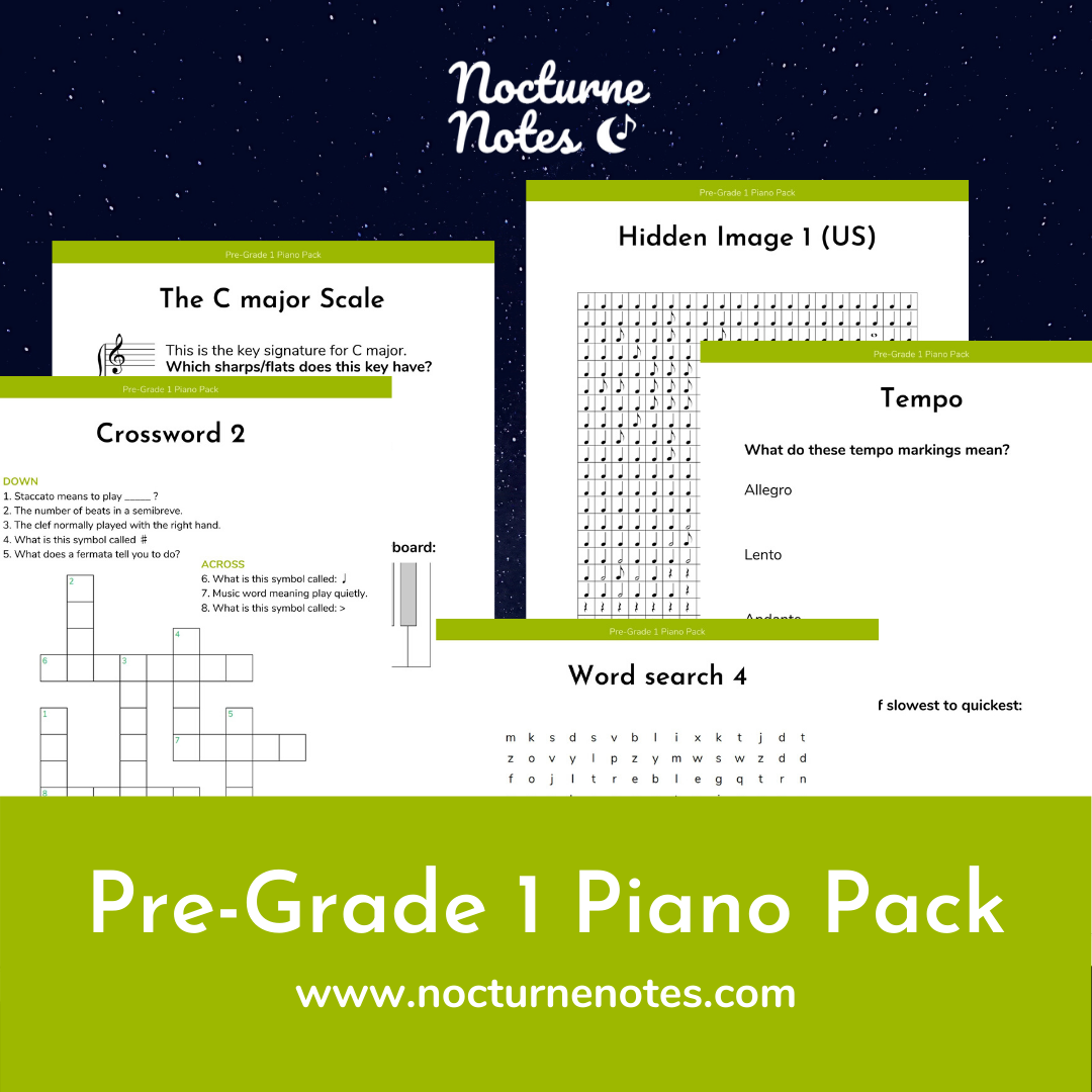 Pre-Grade 1 Piano Pack - Sample Pages
